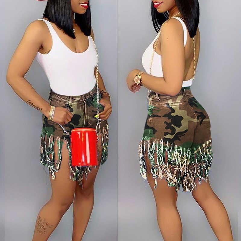Plus Size S-3XL Kwastje Toevallige Denim Shorts Vrouwen Elastische Hoge Taille Korte Jeans Zomer Streetwear Mode Broek