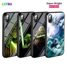 Black Cover Star Wars Yoda  for iPhone X XR XS Max for iPhone 8 7 6 6S Plus 5S 5 SE Super Bright Glossy Phone Case black cover japanese samurai for iphone x xr xs max for iphone 8 7 6 6s plus 5s 5 se super bright glossy phone case