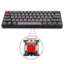 RGB LED Backlit Wired Mechanische Tastatur, Tragbare Kompakte Wasserdichte Mini Gaming Tastatur 61 PBT Tastenkappen Gateron Switcs