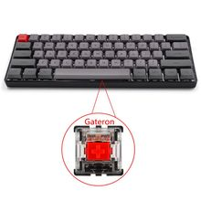 RGB LED الخلفية السلكية لوحة المفاتيح الميكانيكية ، المحمولة المدمجة مقاوم للماء لوحة مفاتيح الألعاب الصغيرة 61 PBT كيكابس Gateron سويتس