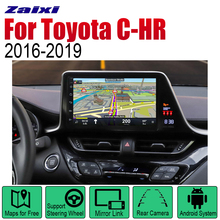 ZaiXi Android Car GPS Navi for Toyota C-HR 2016~2019 player Navigation WiFi Bluetooth Mulitmedia system audio stereo EQ