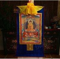 Venta al por mayor budista suministros. 2019 el budismo  casa decoración  arte de la seda  el Buda Shakyamuni Thang ga Thangk|Statues & Sculptures| |  -