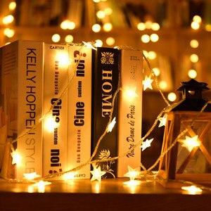 2M Holiday Light Chain Star LED String Lighting Batteries Lamp Bulb Light String Waterproof Outdoor Wedding Christmas Led String
