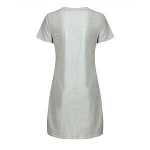 Image 3 - Newly Womens Sleepwear Cute Sleep Shirt Printed Night Dress Short Sleeve Nightwear