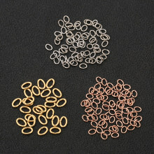 100pcs Hypoallergenic Stainless Steel 0.6x3x4mm Oval Shape Jump Ring Connector for DIY Bracelet Necklace Jewelry Making Findings