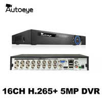 Autoeye 6in1 H.265 + 16/8/4ch AHD DVR per AHD TVI CVI 5MP 4MP 1080P 720P Macchina Fotografica CCTV Registratore NVR TELECAMERA ip Xmeye Onvif CCTV DVR