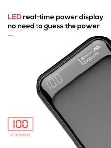 Image 5 - Jellico Power Bank 10000Mah Led Draagbare Batterij Power Bank Pd Fast Quick Lading 12V Powerbank Voor Iphone Xiaomi mi Power Bank
