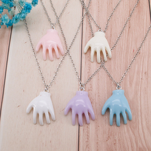 1PC Palm Halloween Creepy  Necklace  Multicolor Resin Punk  Hand Necklace for Children Birthday Gift Woman Jewelry creepy presents richard corben