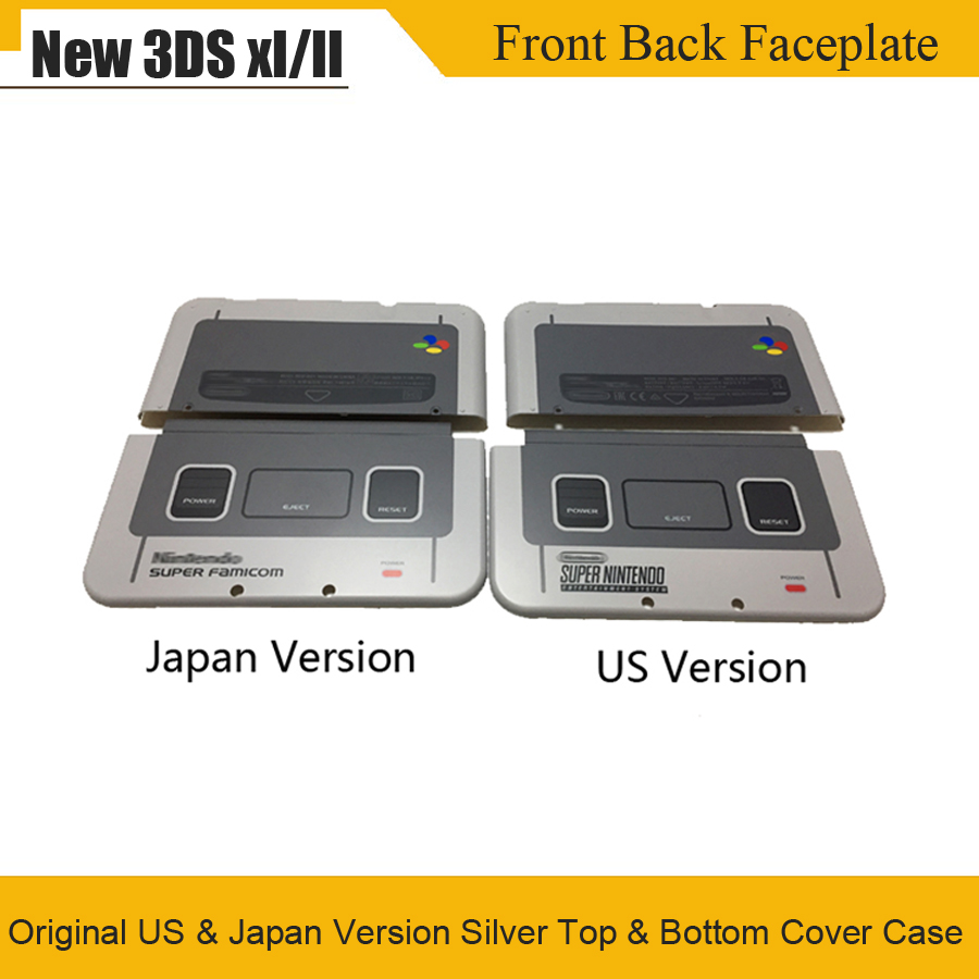 Original For SNES Limited Housing Shell Case For New 3DS XL LL Front Back Faceplate For Nintend New3DSXL