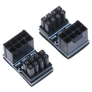 Image 1 - Atx 8pin Mannelijke 180 Graden Schuin Naar 8Pin Vrouwelijke Power Adapter Voor Desktops Grafische Kaart