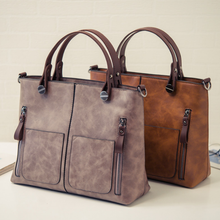 The new fashion PU leather big handbag single shoulder bag diagonal cross bag fashion womens bag free of freight