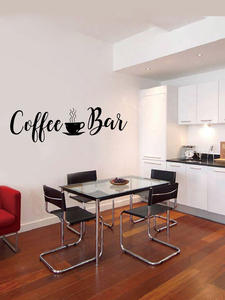 Decals Mural Wall-Stickers Fridge Coffee-Bar Store Vinyls Dining-Room Home-Decorative
