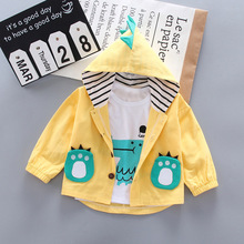 Kid Baby Boy Clothing Sets Cartoon Coat 3PCS Fashion Toddler Girls Baby Suit for Boys Coat + T shirt 1 - 4 Y цена 2017