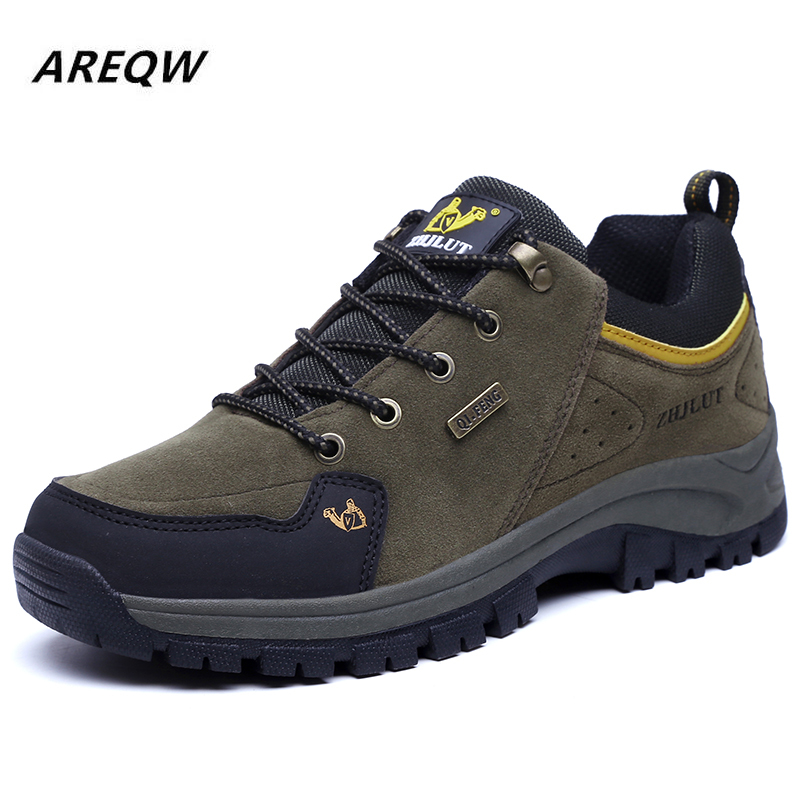Men's Outdoor Hiking Shoes Spring And Autumn Air Mesh Breathable Waterproof Lace-Up Soft Outdoor Sneakers Man