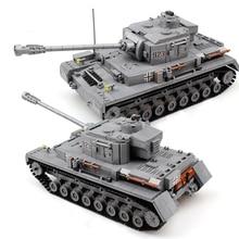 1193 adet askeri serisi büyük Panzer tankı yapı taşları ordu şehir Enlighten tuğla oyuncaklar çocuklar için uyumlu Tank ile