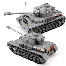 1193pcs Military Series Large Panzer Tank Building Blocks Army City Enlighten Bricks Toys For Children Compatible With Tank