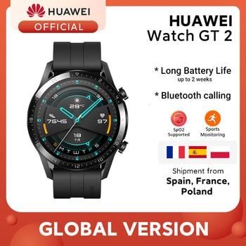 In stock Global Version HUAWEI Watch GT 2 GT2 Smart Watch Blood Oxygen SmartWatch 14 Days Phone Call Heart Rate Tracker