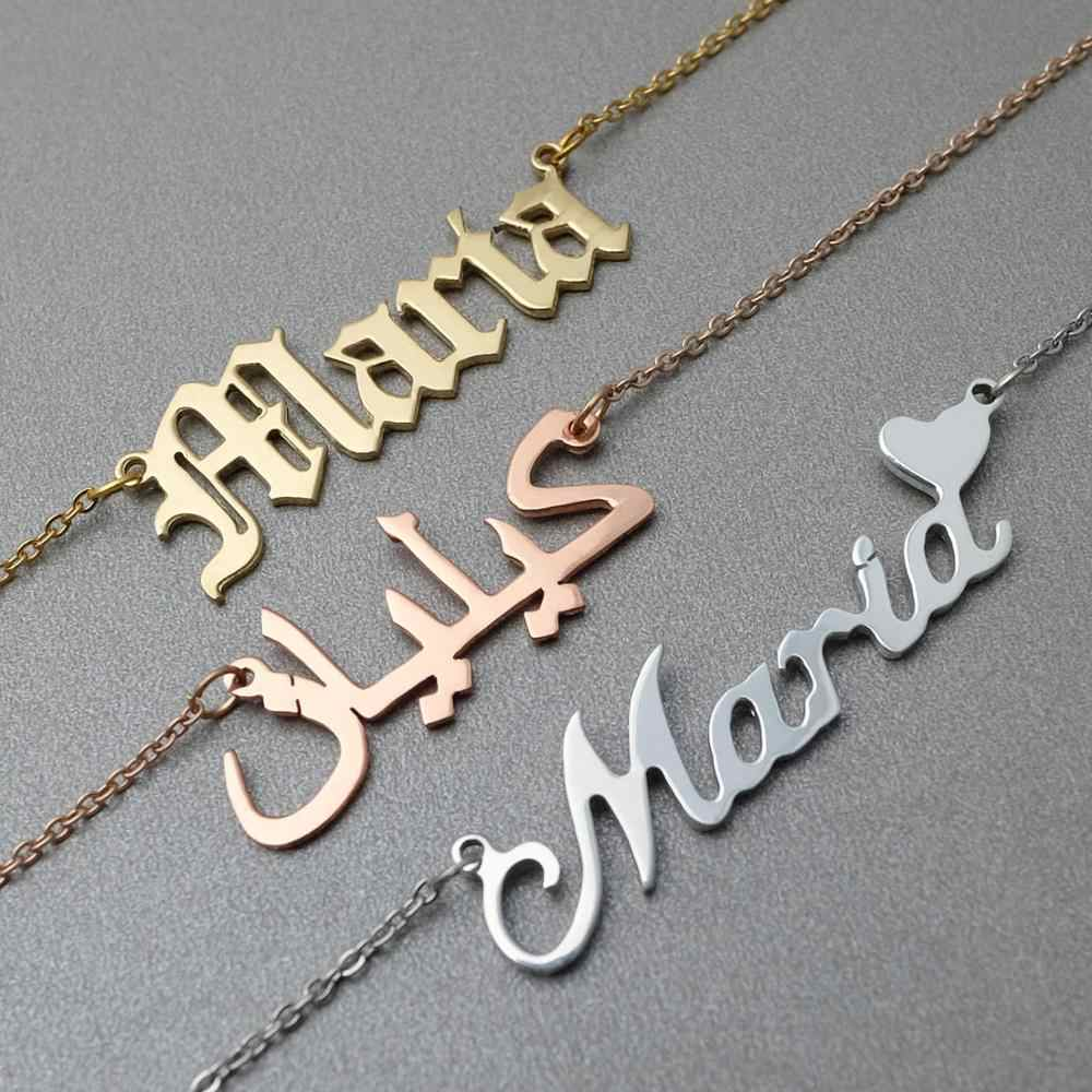Custom Name Necklace Nameplate Necklace Personalized Name Jewelry Personalized Name Necklace Name Necklace