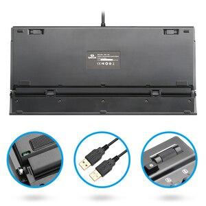 Image 4 - Redragon K550 alüminyum USB mekanik oyun klavyesi Rgb kırmızı mor anahtarı Diy ergonomik anahtar arkadan aydınlatmalı anti laptop PC Pro oyun
