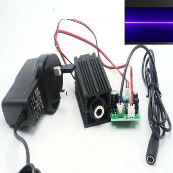 Focusable 405nm 100mw Violet/Purple Blue Laser Line Module w 12V AC Adapter 405nm 10mw violet purple blue line laser diode module dc3v 5v lazers w focusable head
