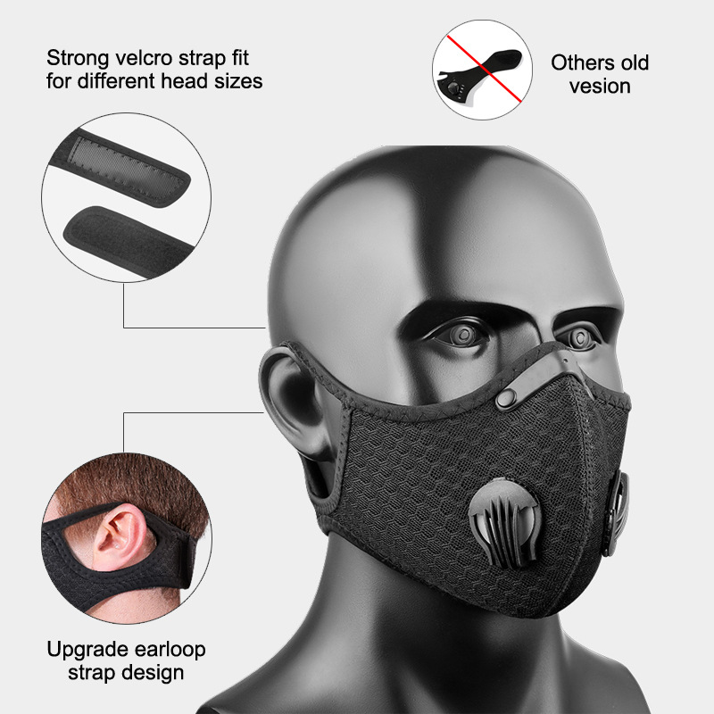 2020 Activated Bamboo Carbon 5-layer Filter Masks Prevention Bacterial Face Masks Anti-dust Safe PM2.5 Protective Mask Respirato