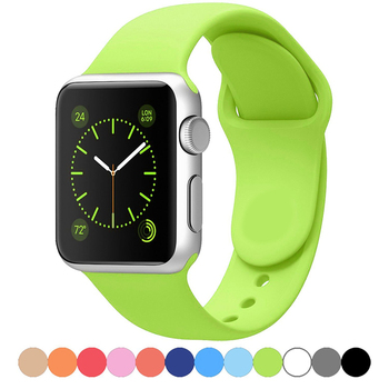 цена на Silicone strap For Apple Watch band 44 mm 40mm iwatch Band 38mm 42mm Sport bracelet Rubber watchband for apple watch 5 4 3 2 1