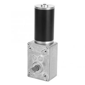 Image 3 - DC 12V Hohe Dreh Geschwindigkeit Reduzieren Elektrische Getriebe Motor Reversible Wurm Getriebe Motor 8mm Welle 10/12 /20/30/50/130/200/400RPM