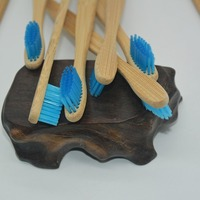 500 pcs soft bristles Organic, Natural, Biodegradable wood handle adult wooden ,BPA Free Medium travel set toothbrush