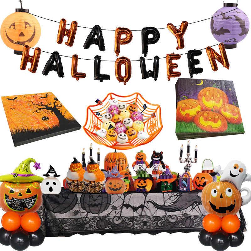Feliz Halloween 2020 Calabazas De. Halloween Servilletas de mesa para decoración de feliz halloween 2020