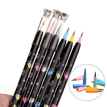 4 sztuk non-ostrzenie ołówki diamentowe pióro Cap HB ołów studenci pisanie długopisy szkolne papiernicze ołówek dla dzieci materiały biurowe tanie i dobre opinie Bonytain CN (pochodzenie) LOOSE Z tworzywa sztucznego Pencils Non-sharpening 4pcs Stationery