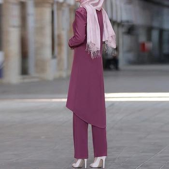 Ramadan Eid Mubarak Dubai Abaya Turkey Hijab Muslim Dress Sets Islam Clothing For Women Musulman