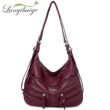 LANYIBAIGE New Woman Crossbody Bags Luxury Leather Soft Handbags Woman Bag Designer Famous Brand Shoulder Bags For Women 2020