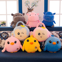 New Style Cute Pet Plush Toys Airable Blanket Doll Pillow Spring Summer Napping Pillow Vehicle Cushion Gift