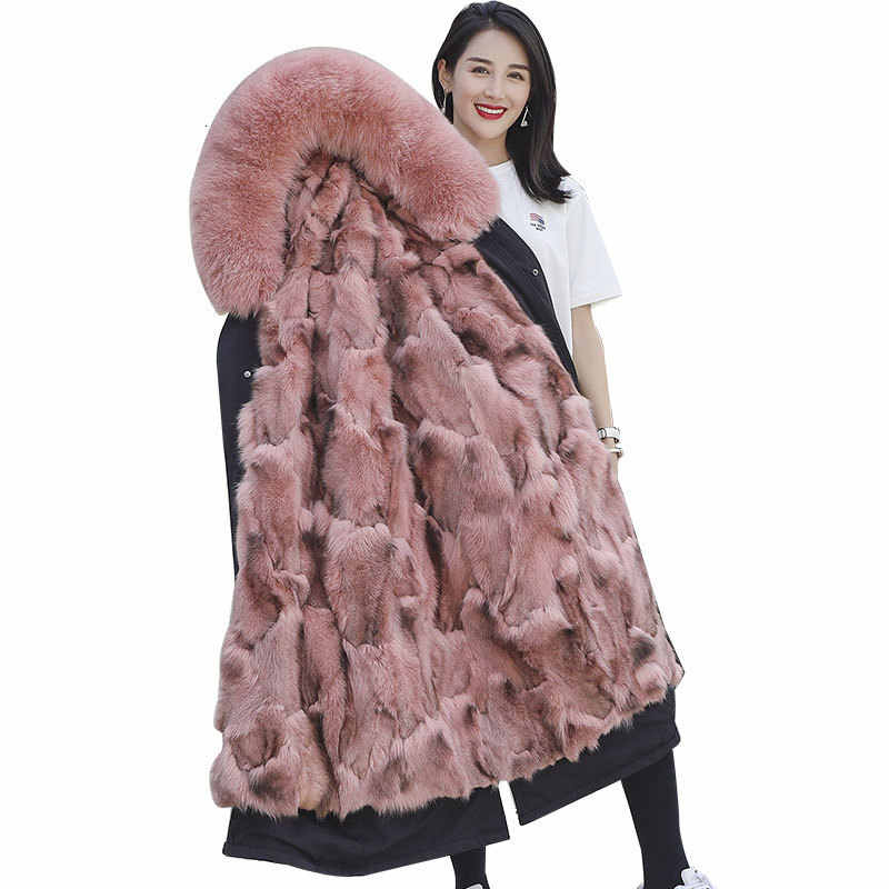 Echt Pelzmantel Frauen Fuchs Pelz Mantel Frauen Kleidung 2020 Koreanische Mode Echtpelz Parka Winter Mantel Frauen Manteau Femme HL001 YY1075