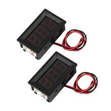 2 mini digital voltmeter voltage meter LED display panel 3.0-30V