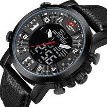 Fashion Sport Clock Top Brand Fashion Featured Quartz Watch Quartz Men's Watch Leather Belt Men's Black White swatch watch skin series fashion black and white quartz watch syxs100