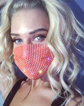 Face Jewelry Mask Hollow Out Shiny Fashion Mask Cover For Night Club party rave festival Show