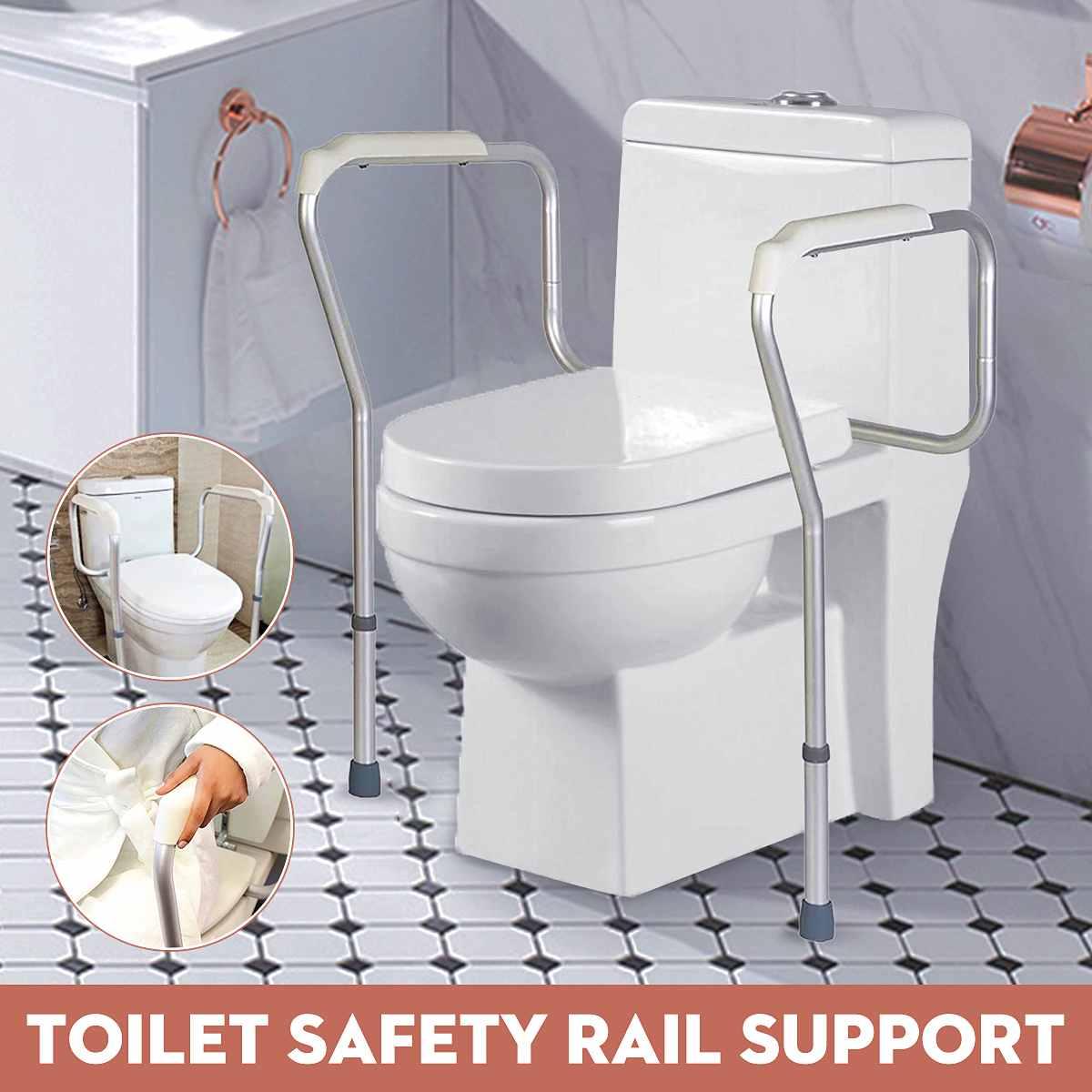 Akcesoria łazienkowe bezpieczeństwo toalety szyny regulowana rama wc Rack antypoślizgowa poręcz prysznicowa poręcz dla starszych w ciąży