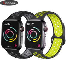Strap for Apple Watch 4 band 44mm 40mm iwatch band 42mm 38mm silicone sport Nike correa Bracelet Watchband for apple watch 4 3 цена