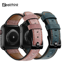 цена на Apple Watch 5 4 3 2 1 Series Band 44mm 42mm 38mm 40mm Strap Apple Watch Genuine Leather Band Smart for iwatch 5 4 3 2 Bracelet