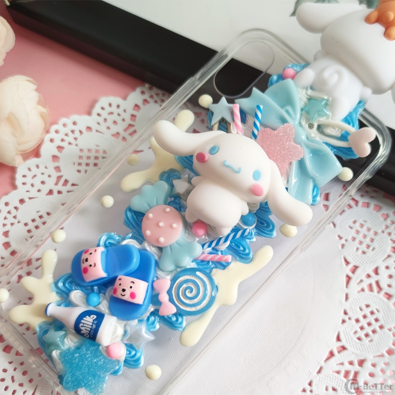 DIY case For Samsung s20 ultra 3D Cinnamoroll Phone Cover Note 8/9/10+ Cute Dog cream shell Galaxy s7edge handmade s8/s9 s10plus