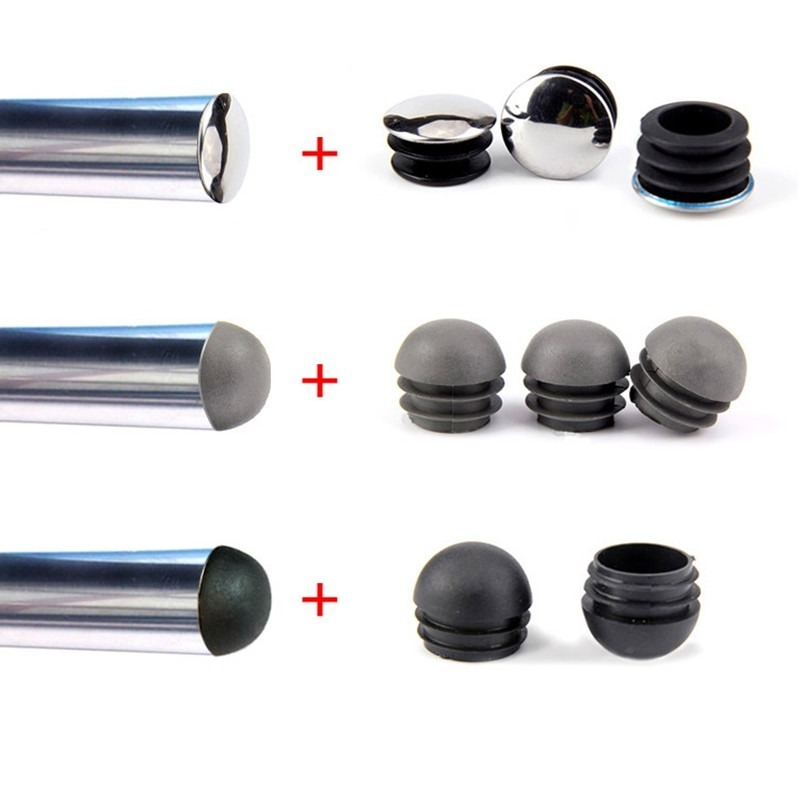 2-10pcs 12-76mm Plastic Tube Insert Plug Round Steel Pipe End  Caps Non Slip Furniture Leg Decorative Dust Cover Floor Protector