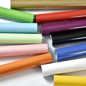 Image 2 - New Red Paint Waterproof DIY Decorative Film PVC Vinyl Self Adhesive Wallpaper Kitchen Cabinet Furniture Wall Sticker Home Decor