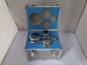 Image 4 - F1 grau 4 pces 1kg 5kg 304 de aço inoxidável balança digital calibração pesos kit conjunto w certificado, precisão embalado