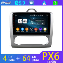 WiFi Android 9 PX6 4 + 64G Untuk Ford Fokus 2012-2014 Mobil Multimedia Player Stereo GPS Navigasi radio Kepala Unit DSP Auto 4G LTE(China)