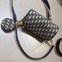 2pcs/Set Women Luxury Handbags Purse Boston Tote Bags R Letter Printing Pillow Shape Shoulder Bag Famous Designer Sac Luxe Femme