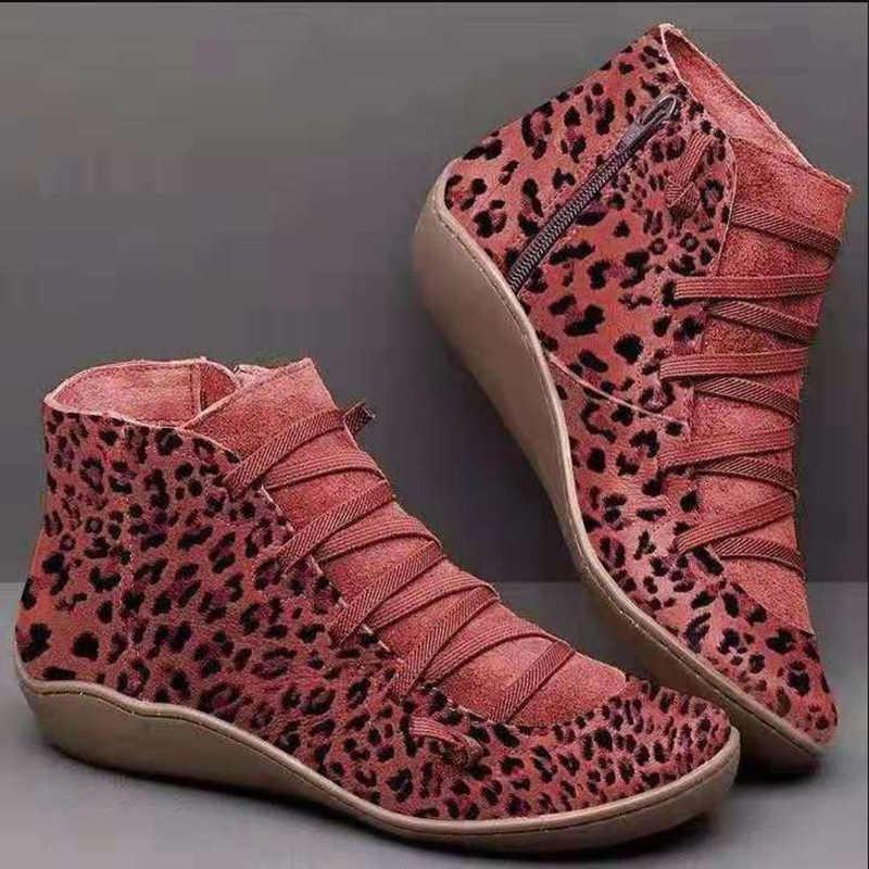Ayakkabı kadın su geçirmez botlar ile çocuk yuvarlak kafa ön kadın deri çizmeler yan fermuar yüksek ayakkabı zapatos de mujer