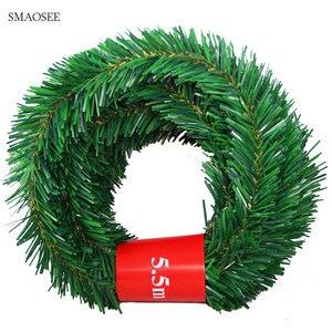 Image 1 - 5.5M Feestelijke Party Rotan Diy Krans Kerst Decoratie Guirlande Xmas Party Drop Ornament 2021 Kerst Decoraties Voor Huis