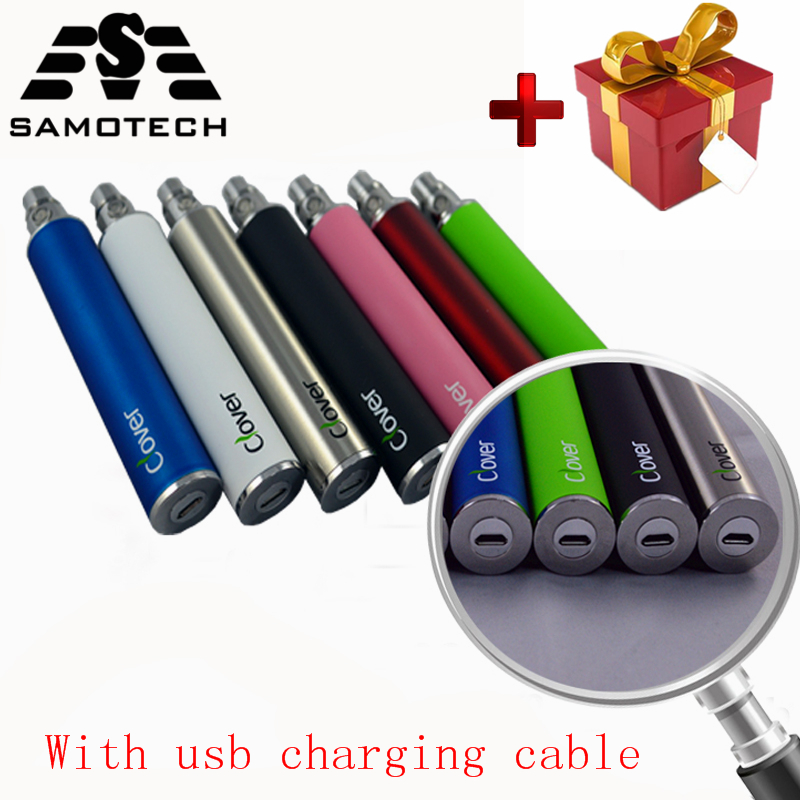Clover 2600mAh Electronic Cigarette Battery  USB Passthrough E Cigarette Vape Pen Clover Root 510 Thread VS Ego-t Battery