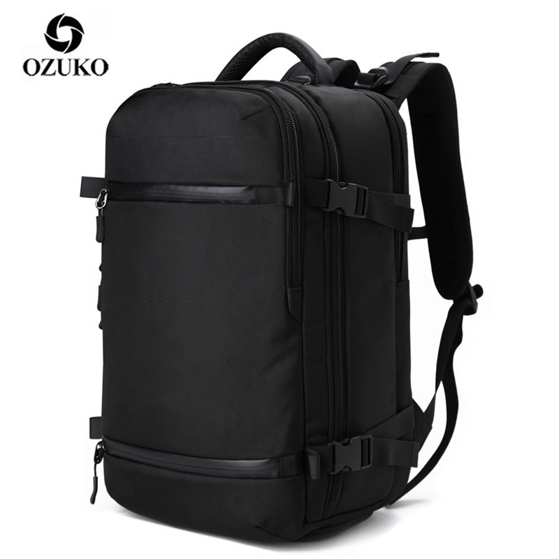 OZUKO Backpack Men Travel Pack Shoes Bag Male Luggage Multifunctional Backpack USB Large Waterproof 17.3 Laptop Women Bags AER
